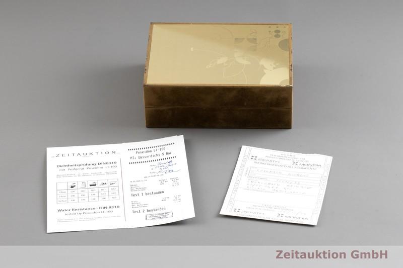 gebrauchte Luxusuhr Zenith El Primero Chronograph Stahl Automatik Kal. 4002 Ref. 01/02.0461.400  | 2002213 _0
