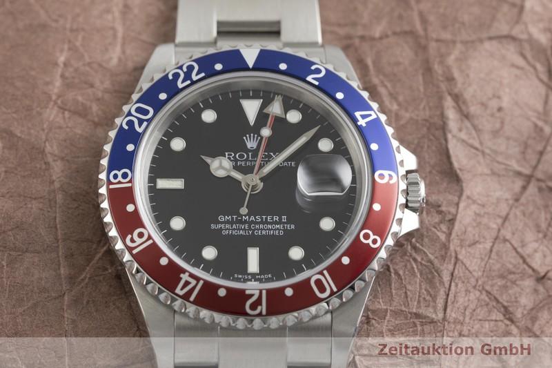gebrauchte Luxusuhr Rolex GMT Master II Stahl Automatik Kal. 3185 Ref. 16710T  | 2002223 _1