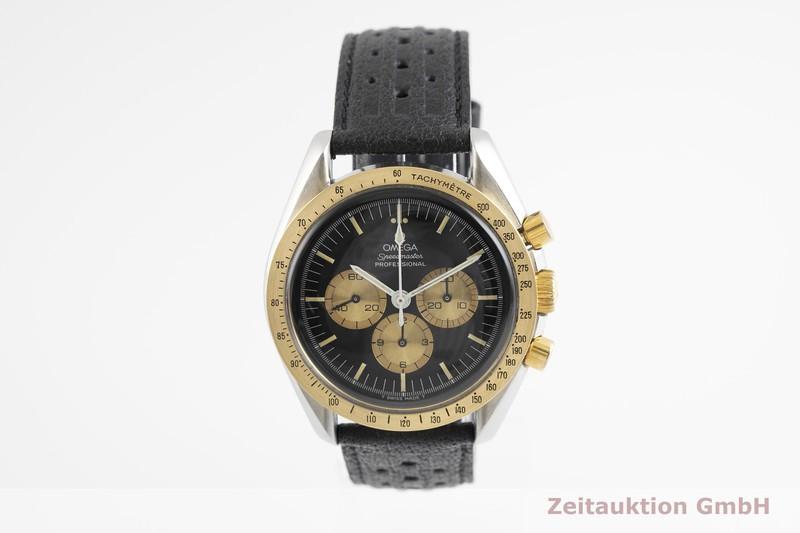 gebrauchte Luxusuhr Omega Speedmaster Moonwatch Chronograph Stahl / Gold Handaufzug Kal. 861 Ref. ST145.022 LIMITED EDITION | 2002240 _1
