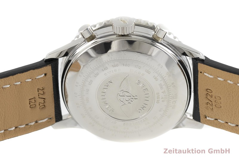 gebrauchte Luxusuhr Breitling Old Navitimer Chronograph Stahl Automatik Kal. ETA 7750 Ref. 81610  | 2002299 _0