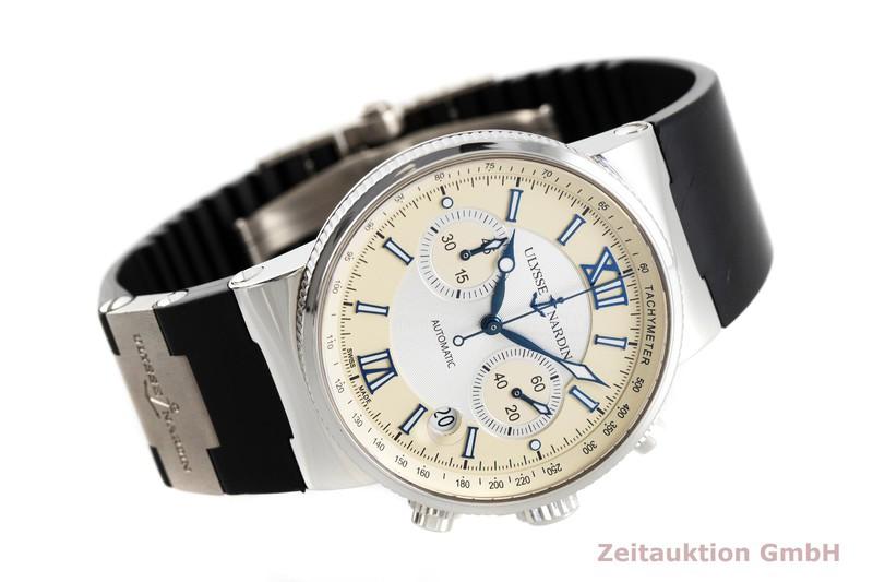 gebrauchte Luxusuhr Ulysse Nardin Marine Chronograph Chronograph Stahl Automatik Kal. UN35, ETA 2892-A2 Ref. 353-66    2002305 _0