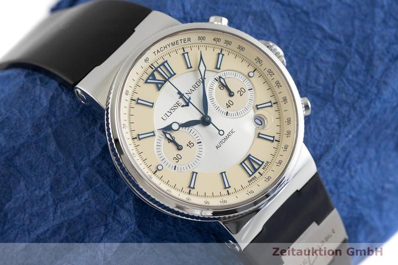 gebrauchte Luxusuhr Ulysse Nardin Marine Chronograph Chronograph Stahl Automatik Kal. UN35, ETA 2892-A2 Ref. 353-66    2002305 _1