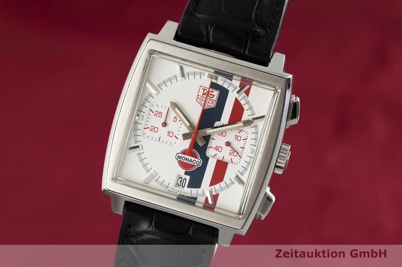 gebrauchte Luxusuhr Tag Heuer Monaco Chronograph Stahl Automatik Kal. 17, ETA 2894-2 Ref. CW2118 LIMITED EDITION | 2002307 _0