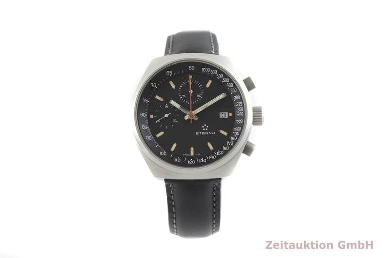 gebrauchte Luxusuhr Eterna * Chronograph Stahl Handaufzug Kal. Valjoux 7765 Ref. 7800    2002308 _1