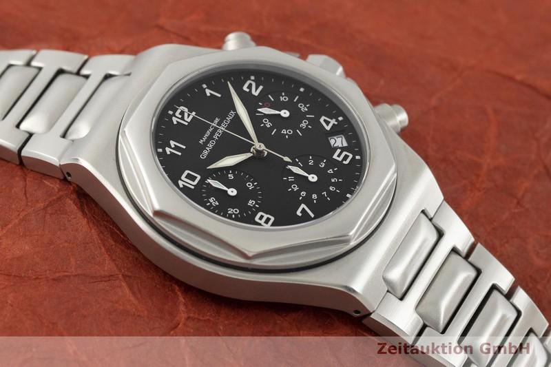 gebrauchte Luxusuhr Girard Perregaux Laureato Chronograph Stahl Automatik Kal. 3170-629 Ref. 8017  | 2002336 _1