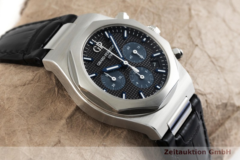 gebrauchte Luxusuhr Girard Perregaux Laureato Chronograph Stahl Automatik Ref. 81040-11-631-BB6A  | 2002338 _1