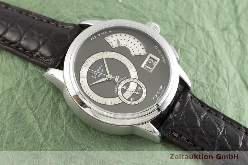 gebrauchte Luxusuhr Glashütte PanoGraph Chronograph Stahl Handaufzug Kal. GUB 61 Ref. 61-01-14-02-04  | 2002345 _1