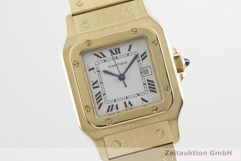 gebrauchte Luxusuhr Cartier Santos 18k Gold Automatik Kal. ETA 2671  | 2002351 _0