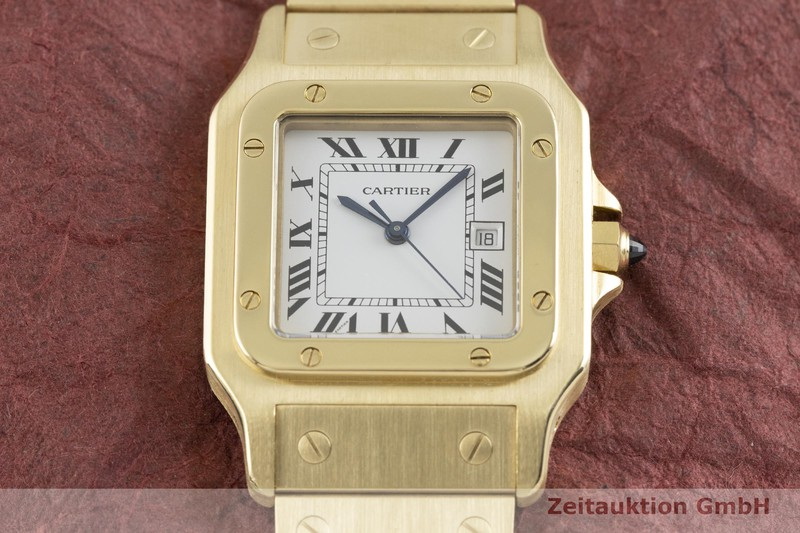 gebrauchte Luxusuhr Cartier Santos 18k Gold Automatik Kal. ETA 2671  | 2002351 _1