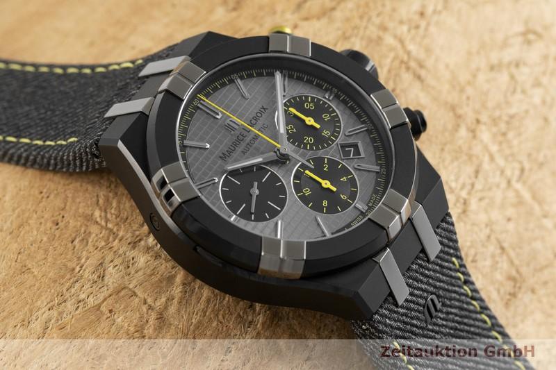 gebrauchte Luxusuhr Maurice Lacroix Aikon Chronograph Stahl Automatik Kal. ML 157, ETA 7750 Ref. AI6018-PVB01-331-1 LIMITED EDITION | 2002357 _1