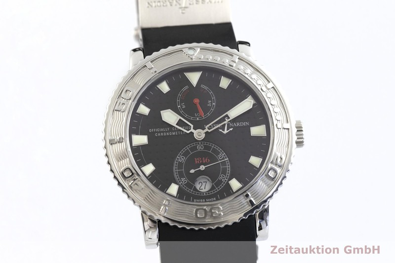 gebrauchte Luxusuhr Ulysse Nardin Marine Chronometer Stahl Automatik Kal. ETA 2892-A2 Ref. 263-55  | 2002401 _0