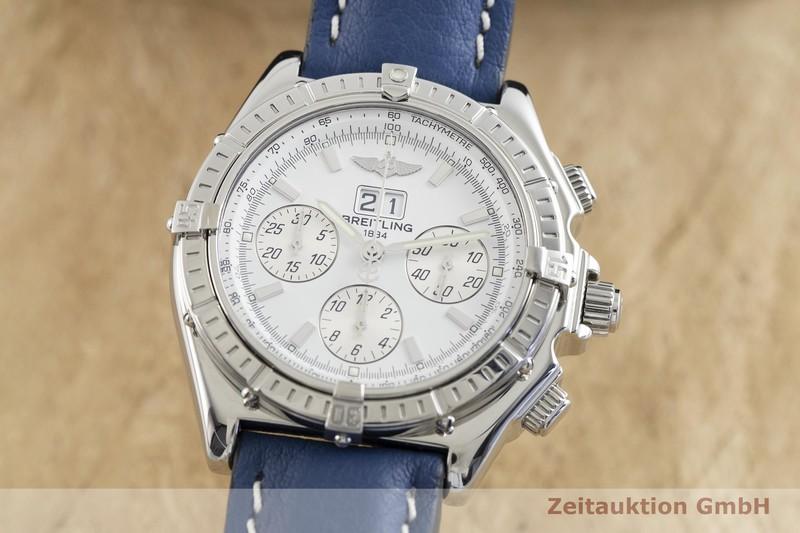 gebrauchte Luxusuhr Breitling Crosswind Chronograph Stahl Automatik Kal. B44, ETA 2892-A2 Ref. A44355  | 2002410 _0