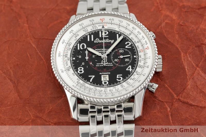 gebrauchte Luxusuhr Breitling Montbrillant Chronograph Stahl Automatik Kal. ETA 2892-A2 Ref. A35330  | 2002432 _1
