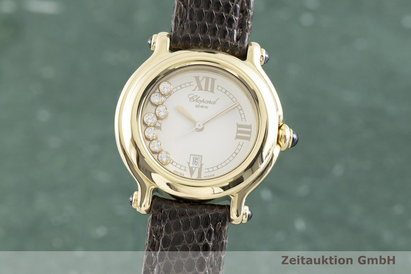 gebrauchte Luxusuhr Chopard Happy Sport 18k Gold Quarz Kal. ETA 956.112 Ref. 27/6144-23, 4144  | 2002440 _0