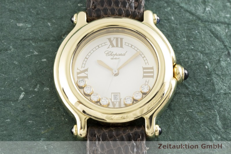 gebrauchte Luxusuhr Chopard Happy Sport 18k Gold Quarz Kal. ETA 956.112 Ref. 27/6144-23, 4144  | 2002440 _1