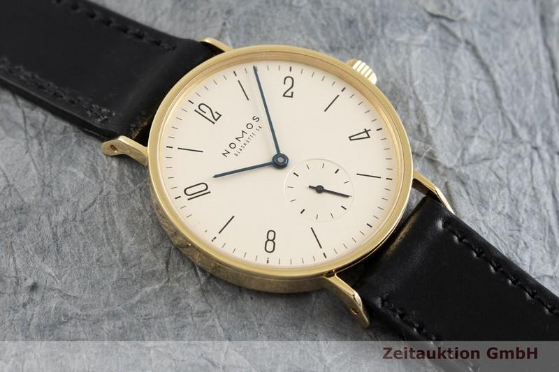 gebrauchte Luxusuhr Nomos Tangente 18k Gold Handaufzug Kal. ETA 7001  | 2002451 _1
