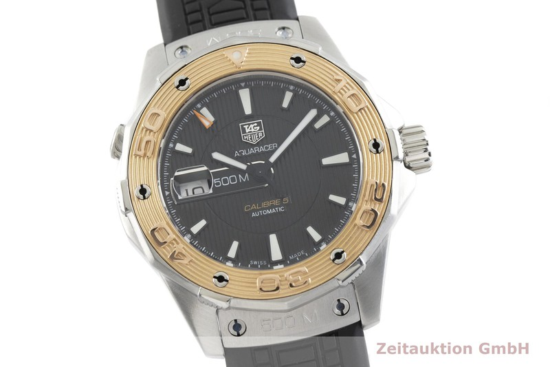 gebrauchte Luxusuhr Tag Heuer Aquaracer Stahl / Gold Automatik Kal. 5, Sellita SW 200-2 Ref. WAJ2150  | 2002468 _0