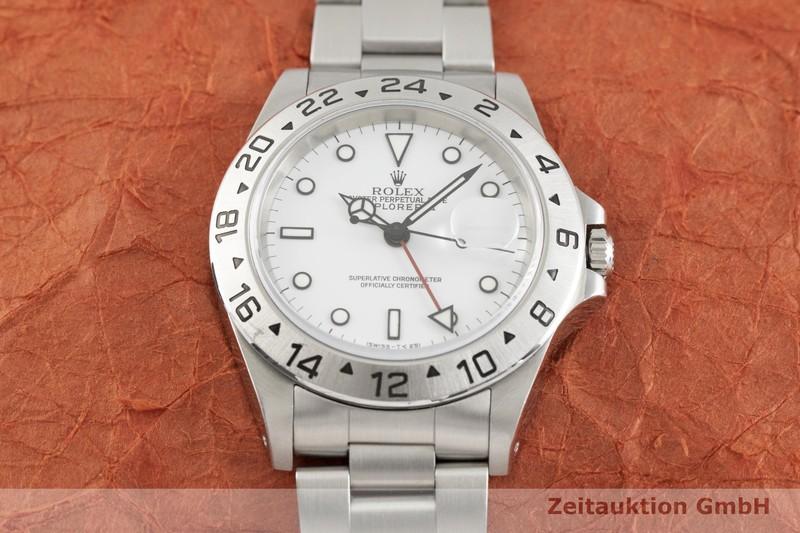 gebrauchte Luxusuhr Rolex Explorer II Stahl Automatik Kal. 3185 Ref. 16570    2002473 _1