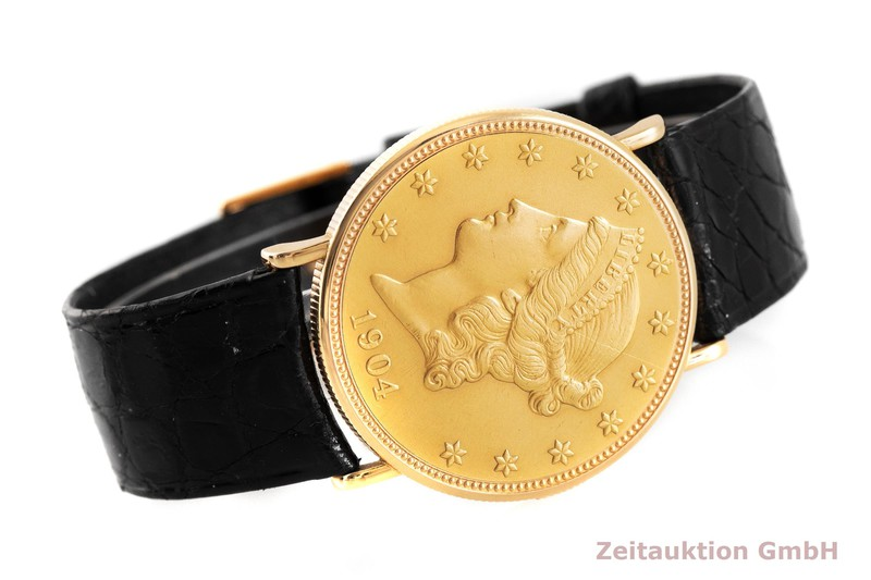gebrauchte Luxusuhr Piaget Twenty Dollars Coin 18k Gold Handaufzug VINTAGE  | 2002478 _1