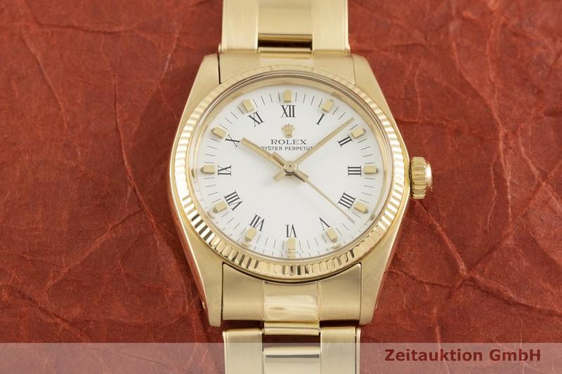 gebrauchte Luxusuhr Rolex Oyster Perpetual 18k Gold Automatik Kal. 2030 Ref. 6751  | 2002479 _1