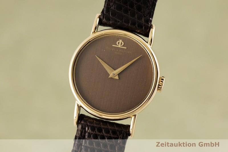 gebrauchte Luxusuhr Baume & Mercier * 18k Gold Handaufzug Kal. BM 777 Ref. 36653    2002502 _0