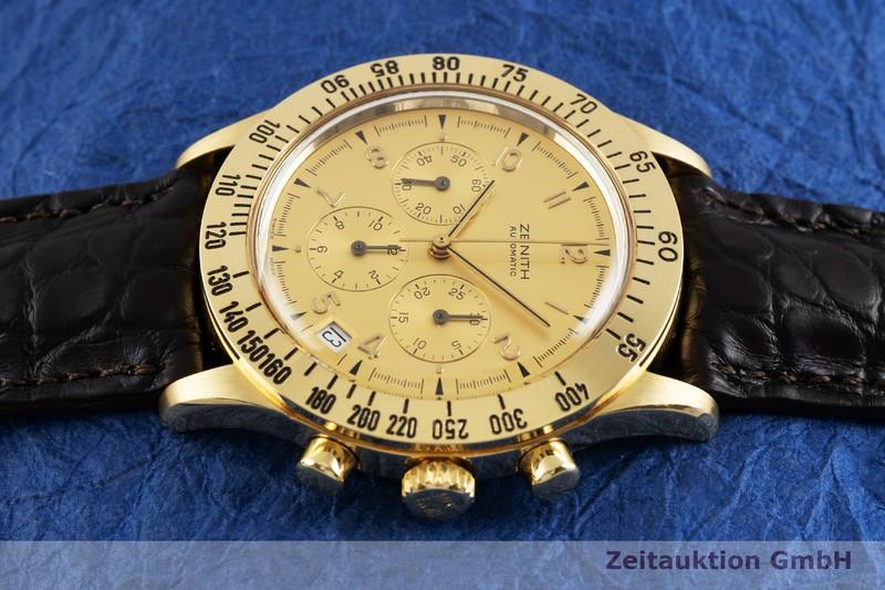 gebrauchte Luxusuhr Zenith El Primero Chronograph 18k Gold Automatik Kal. 400 Ref. 06.0051.400  | 2002541 _0