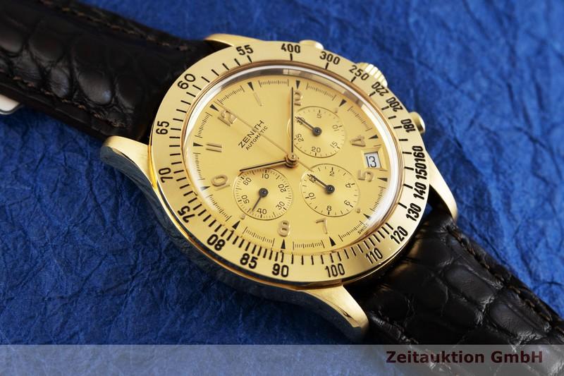 gebrauchte Luxusuhr Zenith El Primero Chronograph 18k Gold Automatik Kal. 400 Ref. 06.0051.400  | 2002541 _1