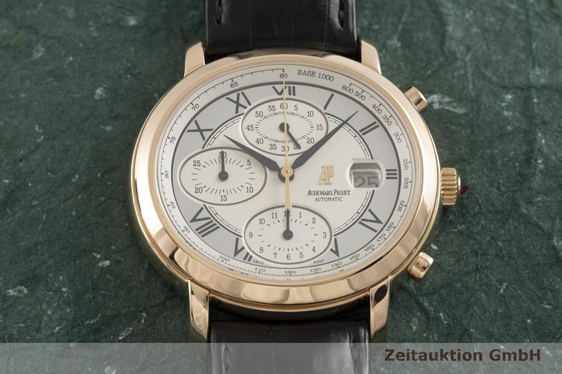 gebrauchte Luxusuhr Audemars Piguet Millenary Chronograph 18k Rotgold Automatik Kal. 2226 Ref. 25822OR/O/3002/01  | 2002548 _1