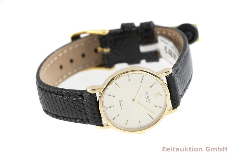 gebrauchte Luxusuhr Rolex Cellini 18k Gold Handaufzug Kal. 1602 Ref. 5109    2002578 _0