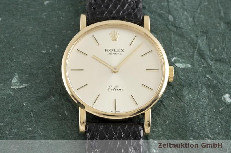 gebrauchte Luxusuhr Rolex Cellini 18k Gold Handaufzug Kal. 1602 Ref. 5109    2002578 _1