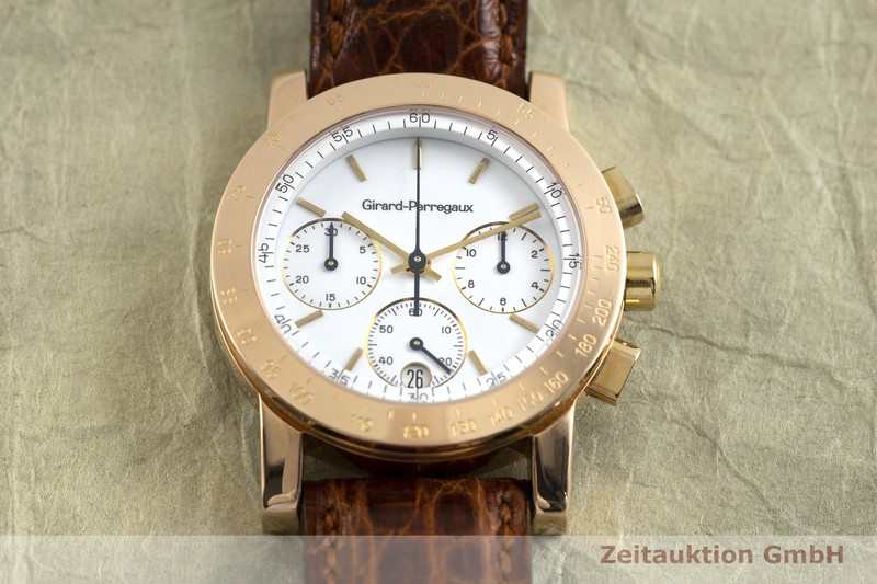 gebrauchte Luxusuhr Girard Perregaux 7001 Chronograph 18k Rotgold Quarz Kal. 810-865 Ref. 7700    2002605 _1