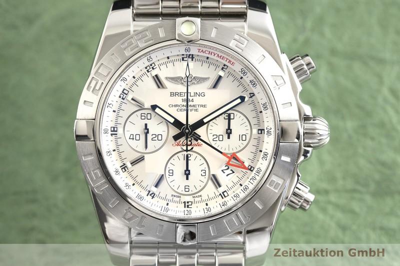 gebrauchte Luxusuhr Breitling Chronomat 44 GMT Chronograph Stahl Automatik Kal. B04 Ref. AB0420  | 2002658 _0