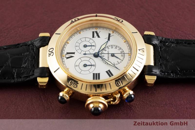 gebrauchte Luxusuhr Cartier Pasha Chronograph 18k Gold Quarz Kal. 212P Ref. 13531  | 2002703 _0
