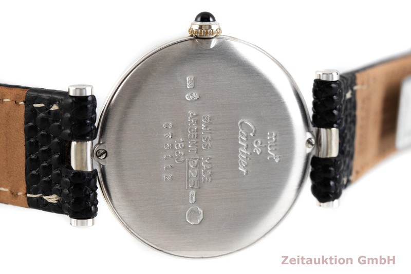 gebrauchte Luxusuhr Cartier Vendome Silber Quarz Ref. 1860    2002708 _0