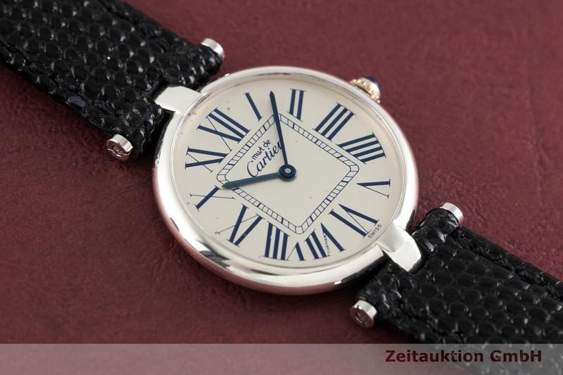 gebrauchte Luxusuhr Cartier Vendome Silber Quarz Ref. 1860    2002708 _1
