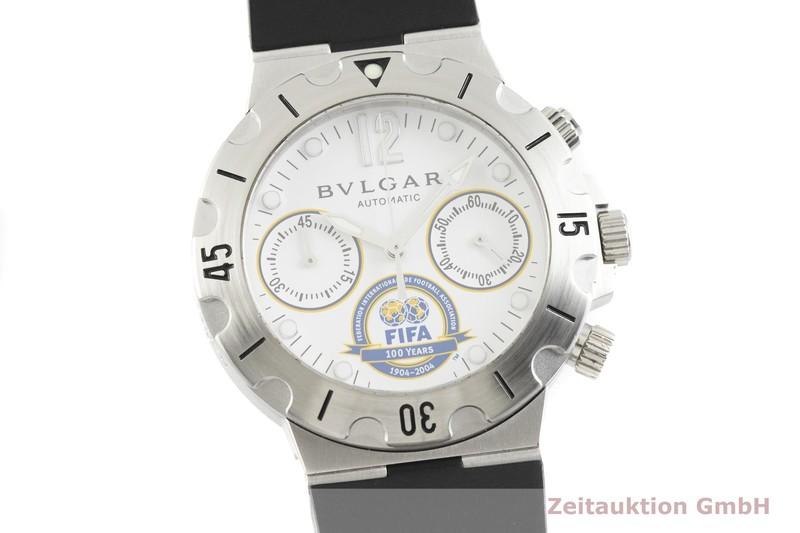 gebrauchte Luxusuhr Bvlgari Scuba Chronograph Stahl Automatik Kal. 2232 Ref. SCB38S LIMITED EDITION   2002760 _0