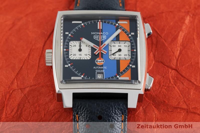 gebrauchte Luxusuhr Heuer Monaco Chronograph Stahl Automatik Kal. 11, SW 300-1 Ref. CAW211R    2002761 _1