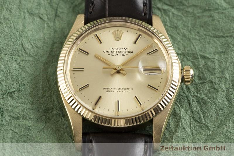 gebrauchte Luxusuhr Rolex Date 18k Gold Automatik Kal. 1570 Ref. 1503 VINTAGE  | 2002764 _1