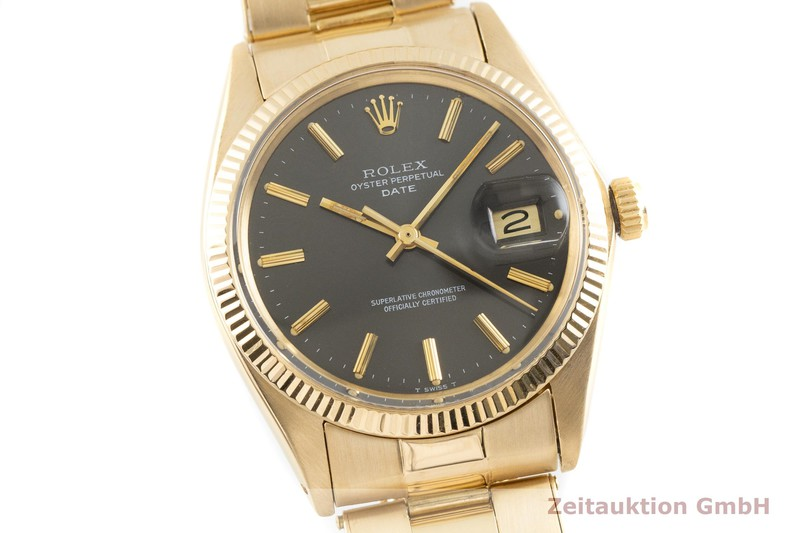 gebrauchte Luxusuhr Rolex Date 18k Gold Automatik Kal. 1570 Ref. 1503    2002774 _0
