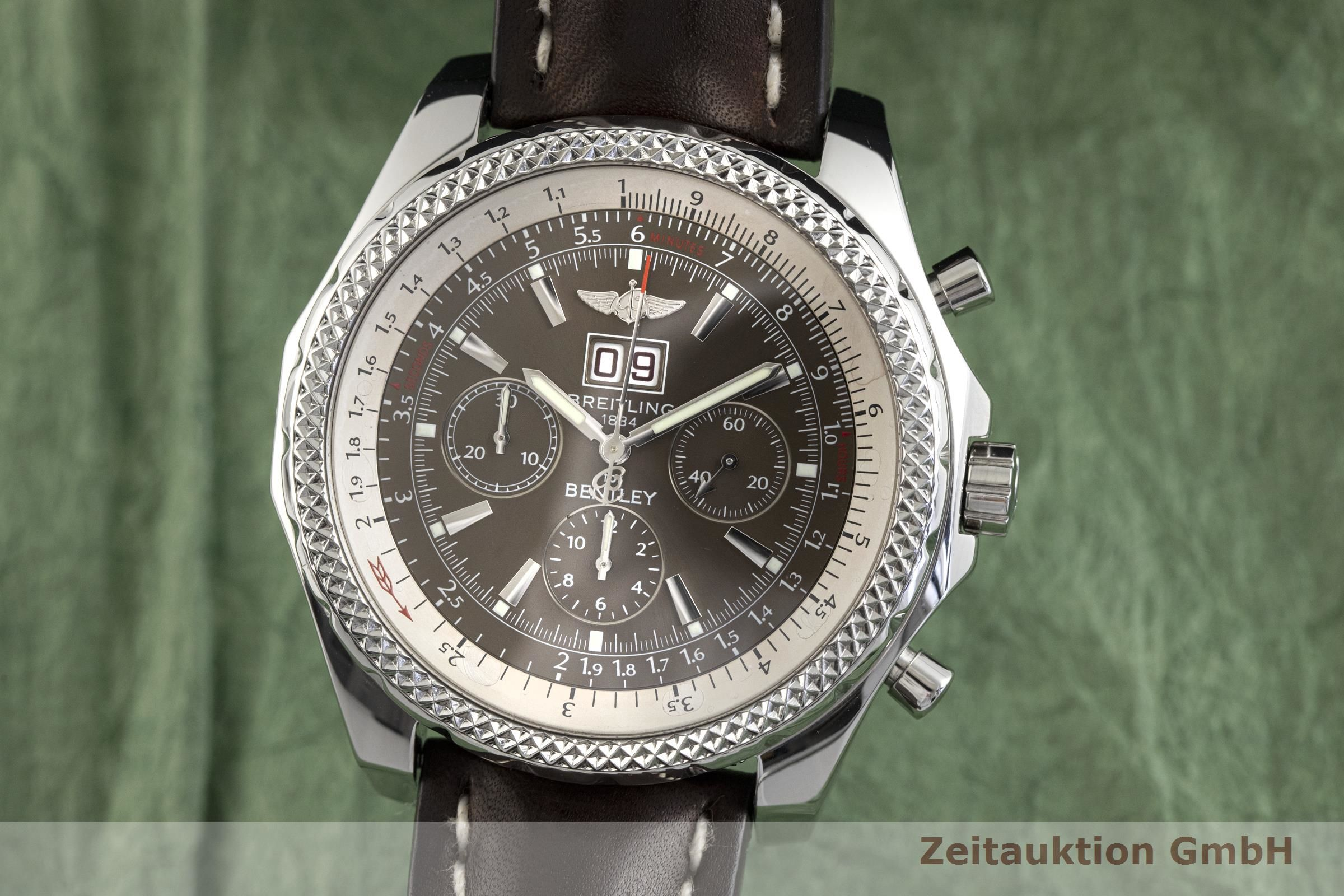 Breitling Bentley 6 75 Chronograph Steel Automatic Kal B44 Eta 2892 A2 Ref A44362 2002802 Zeitauktion
