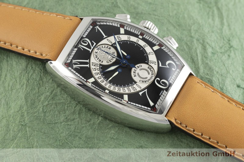 gebrauchte Luxusuhr Franck Muller Chronobiretro Chronograph Stahl Automatik Kal. FM 7000B Ref. 7850CCB  | 2002832 _1