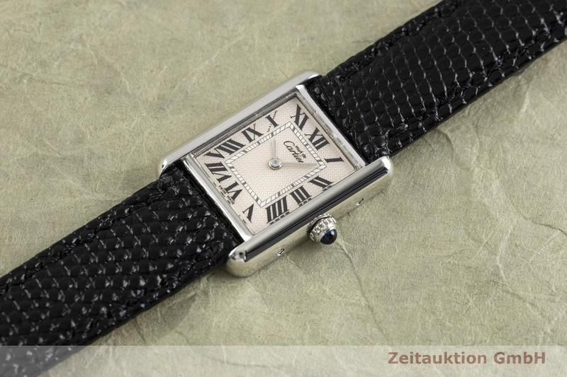 gebrauchte Luxusuhr Cartier Tank Silber Quarz Kal. 057 Ref. 216  | 2002838 _0