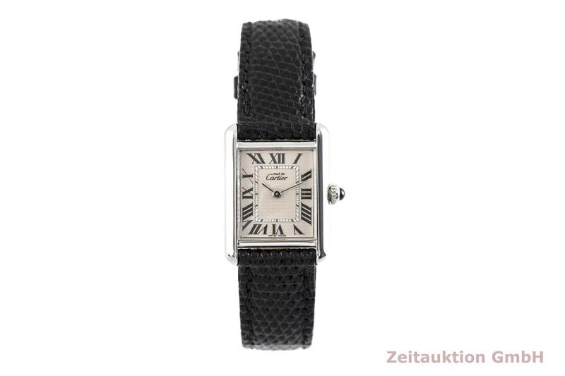 gebrauchte Luxusuhr Cartier Tank Silber Quarz Kal. 057 Ref. 216  | 2002838 _1