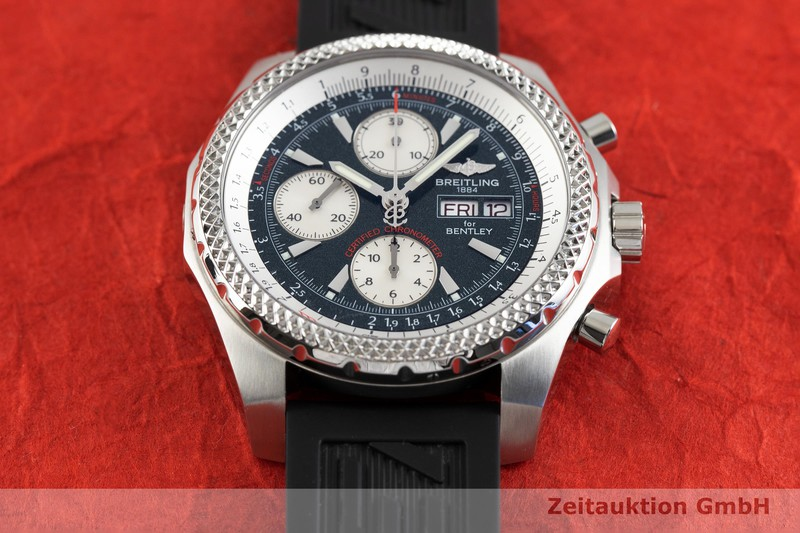 gebrauchte Luxusuhr Breitling Bentley GT Chronograph Stahl Automatik Kal. B13, ETA 7750 Ref. A13363  | 2002842 _1