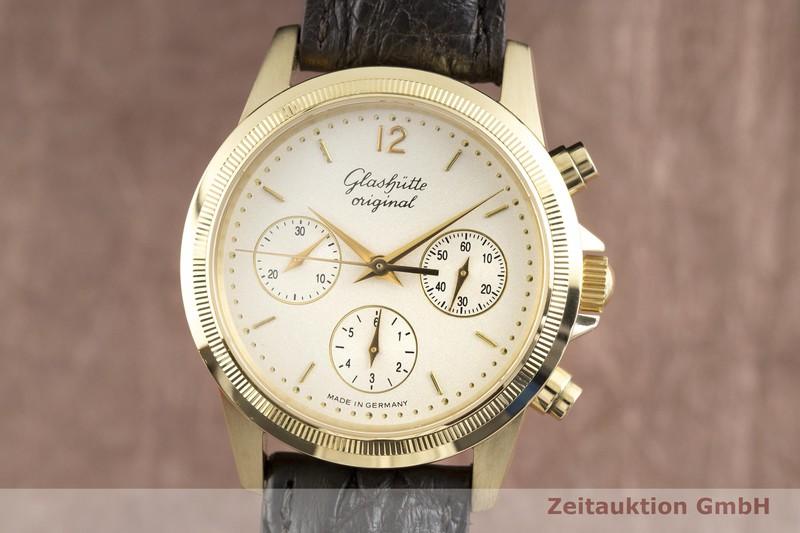 gebrauchte Luxusuhr Glashütte Klassik Chronograph 18k Gold Automatik Kal. GUB 10-60 Ref. 11066040204  | 2002855 _0