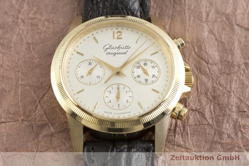 gebrauchte Luxusuhr Glashütte Klassik Chronograph 18k Gold Automatik Kal. GUB 10-60 Ref. 11066040204  | 2002855 _1