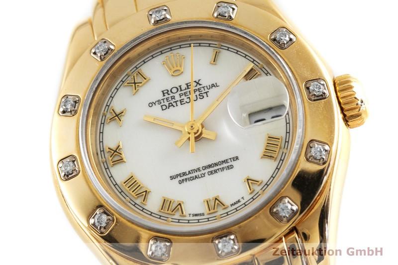 gebrauchte Luxusuhr Rolex Datejust 18k Gold Automatik Kal. 2135 Ref. 69318  | 2002889 _0