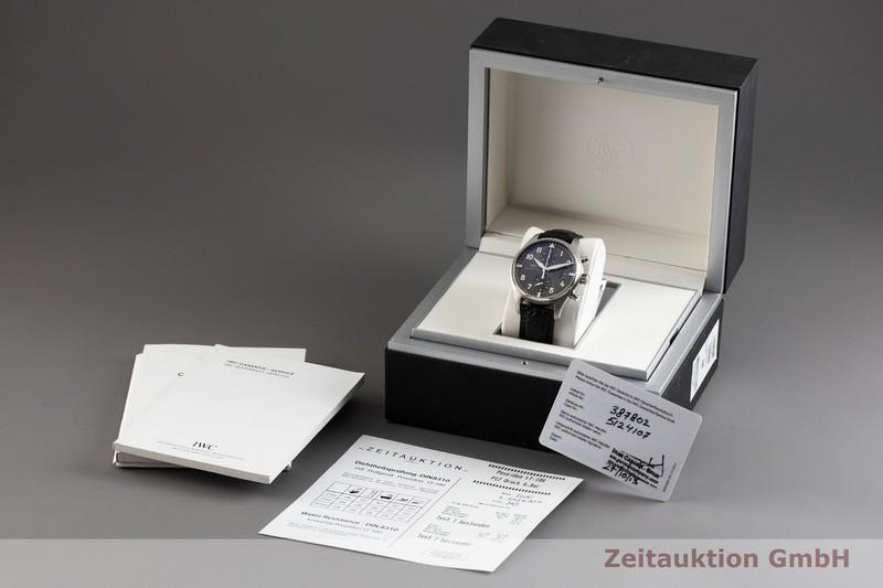 gebrauchte Luxusuhr IWC Pilot Chronograph Stahl Automatik Kal. C.89365 Ref. 3878    2002916 _0