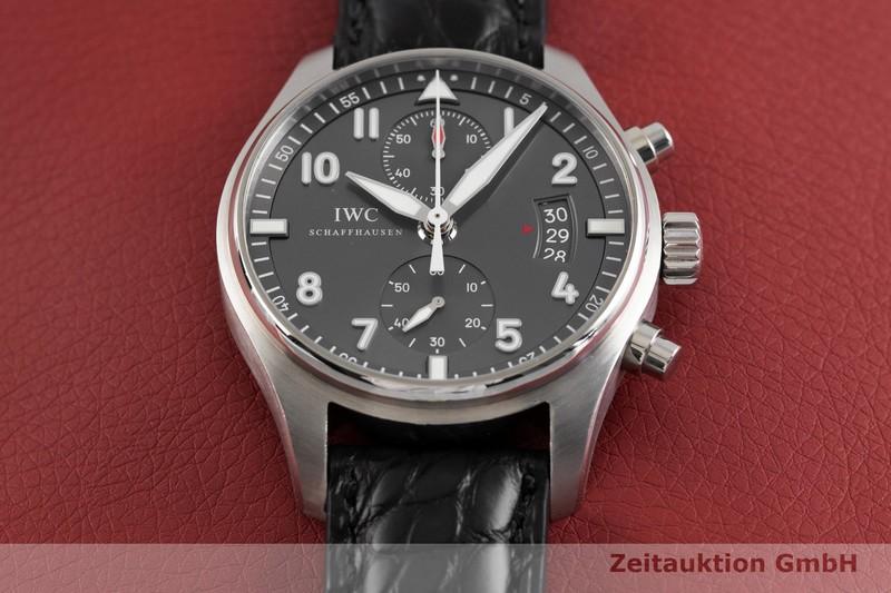 gebrauchte Luxusuhr IWC Pilot Chronograph Stahl Automatik Kal. C.89365 Ref. 3878    2002916 _1