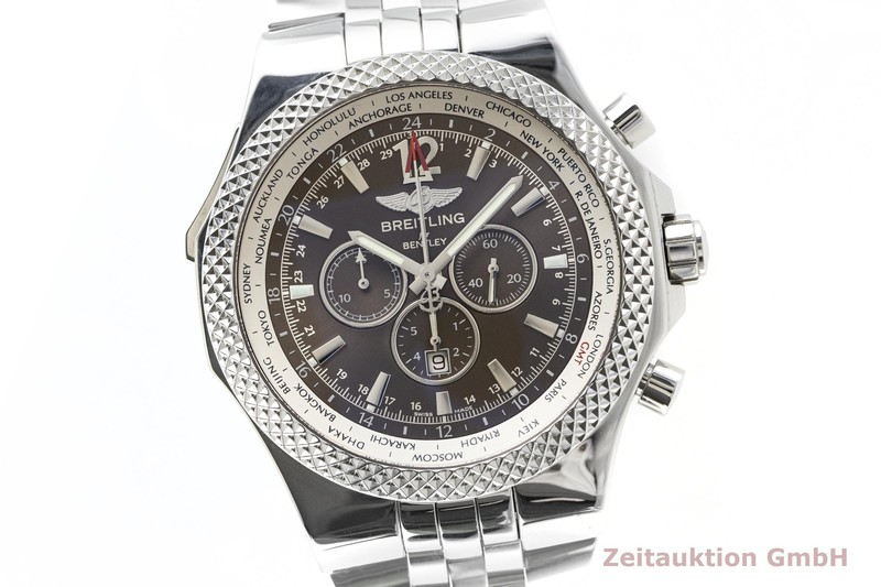 gebrauchte Luxusuhr Breitling Bentley Chronograph Stahl Automatik Kal. B47, ETA 2892-A2 Ref. A47362  | 2002928 _0